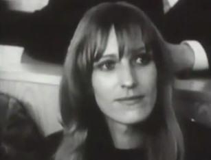 Gudrun Ensslin 1968 vor Gericht in Frankfurt.