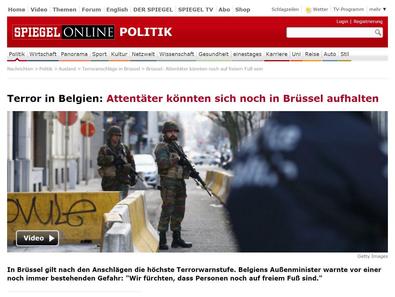 Attentäter könnten sich noch in Brüssel aufhalten