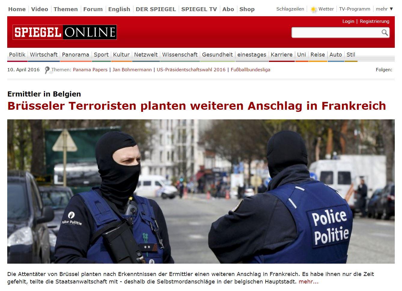Brüsseler Terroristen planten weiteren Anschlag in Frankreich