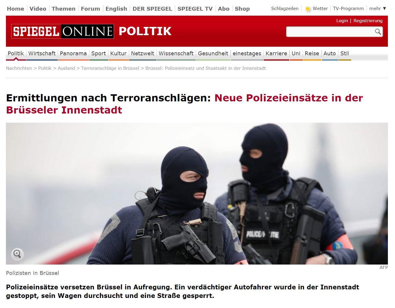 Neue Polizeieinsätze in der Brüsseler Innenstadt