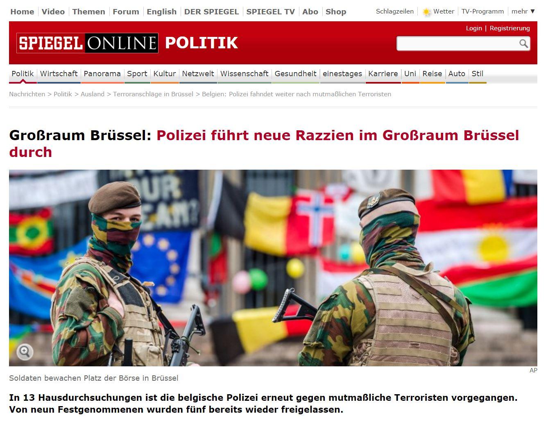 Polizei führt neue Razzien im Großraum Brüssel durch